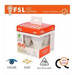 FSL - Pack 4 Lampadine Led E27 9W e 12W 4000K
