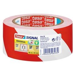 TESA - Nastro Segnaletico Rosso Bianco