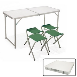 GALILEO CASA - Set tavolo valigetta + 4 sgabelli
