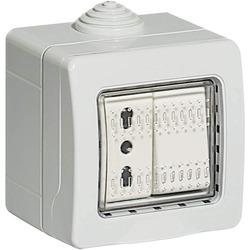 BTICINO - Kit S25402V1 Deviatore 10A 250V 1 Presa Bipasso Co