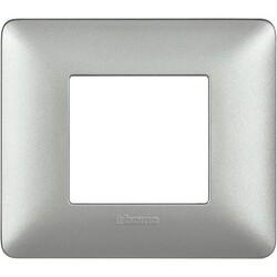 BTICINO - Placca 2 Moduli Matix AM4802MSL Silver