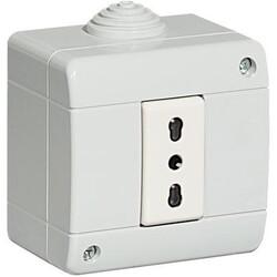 BTICINO - Kit Idrobox Presa in Custodia S25401V80F Grigio