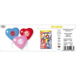 PEGASO - 6 palloncini a cuore