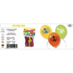 PEGASO - 10 palloncini medi Clown