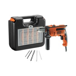 BLACK+DECKER - Trapano a percussione CD714CRESKA