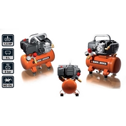 BLACK+DECKER - Compressore autolubrificato BD195/6