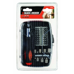 BLACK+DECKER - Set 40 pz per cacciavite