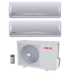 AKAI - Climatizzatore Inverter Dual Split con pompa di ca