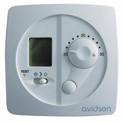 AVIDSEN - Termostato analogico con display LCD