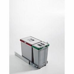 Pattumiera estraibile quadra grigia-59,95 €