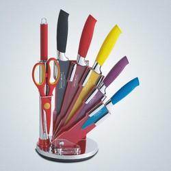 *** - Ceppo 8 coltelli multicolor
