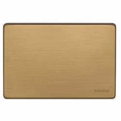 BTICINO - Magic - Placca 3 Posti Cieca Bronzo