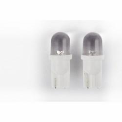 COLZANI - Lampadine Spia Vetro 1 Led Bianco (12v 5w) 2pz