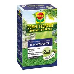 COMPO - Concime Prato Floranid Con Anti-Muschio Da 1,5 Kg