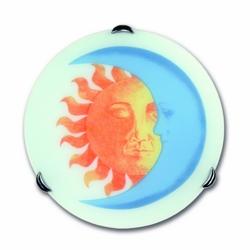 FAN - Plafoniera Sole/Luna Sabbiata