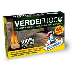 FOCHISTA - Bio-accendifuoco solido 100% vegetale Verdefuoco