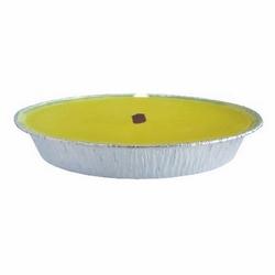 *** - Maxi fiaccola citronella color argento d