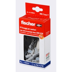 FISCHER - 8 Tasselli Per Wc E Bidet