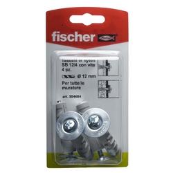 FISCHER - 4 Tasselli Con Vite Sb 12/4 K