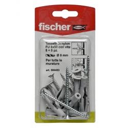 FISCHER - 8 Tasselli E 8 Viti Fu