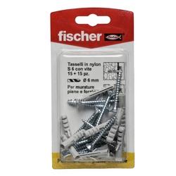 FISCHER - Tasselli In Nylon Con Viti S6vk 15 Pz.