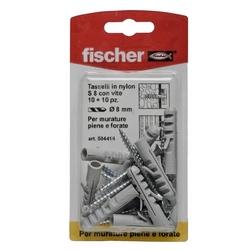 FISCHER - Tasselli In Nylon Con Viti S8vk 10 Pz.