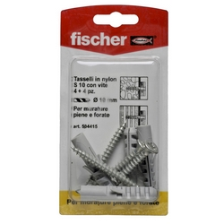 FISCHER - Tasselli In Nylon Con Viti S10vk 4 Pz.