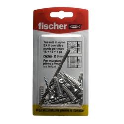 FISCHER - Tasselli Con Viti E 1 Punta Sx5k 16 Pz.