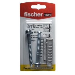 FISCHER - Tasselli Nylon Vite Legno Sx Nr2 12 Bm K