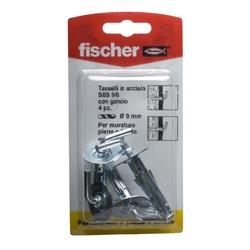 FISCHER - 4 Tasselli Con Gancio Sbs 9/8