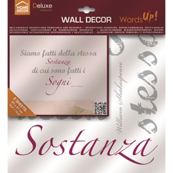 Adesivi Wall Decor M Words Up Metallic - 13,90 €