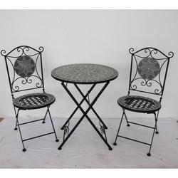 MY GARDEN - Set Mosaico tavolo+ 2 sedie Pieghevoli