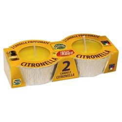 MONDO VERDE - 2 candele citronella in stagnola
