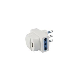 POLY POOL - Adattatore 2 prese bivalenti  e USB
