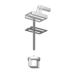 SANIPLAST - Set Cerniere Z2-Z10 Bianco