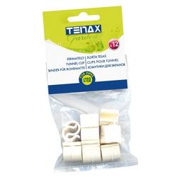 TENAX - Clips Fermatelo (3/8'') Pz 12 Bianche