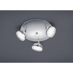 TRIO - Plafoniera LED mezze sfere cromo