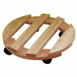Sottovaso in legno con rotelle-7,50 €
