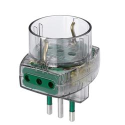 VIMAR - Adattatore Spina 10a/2 10a+1 10-16a Fume'