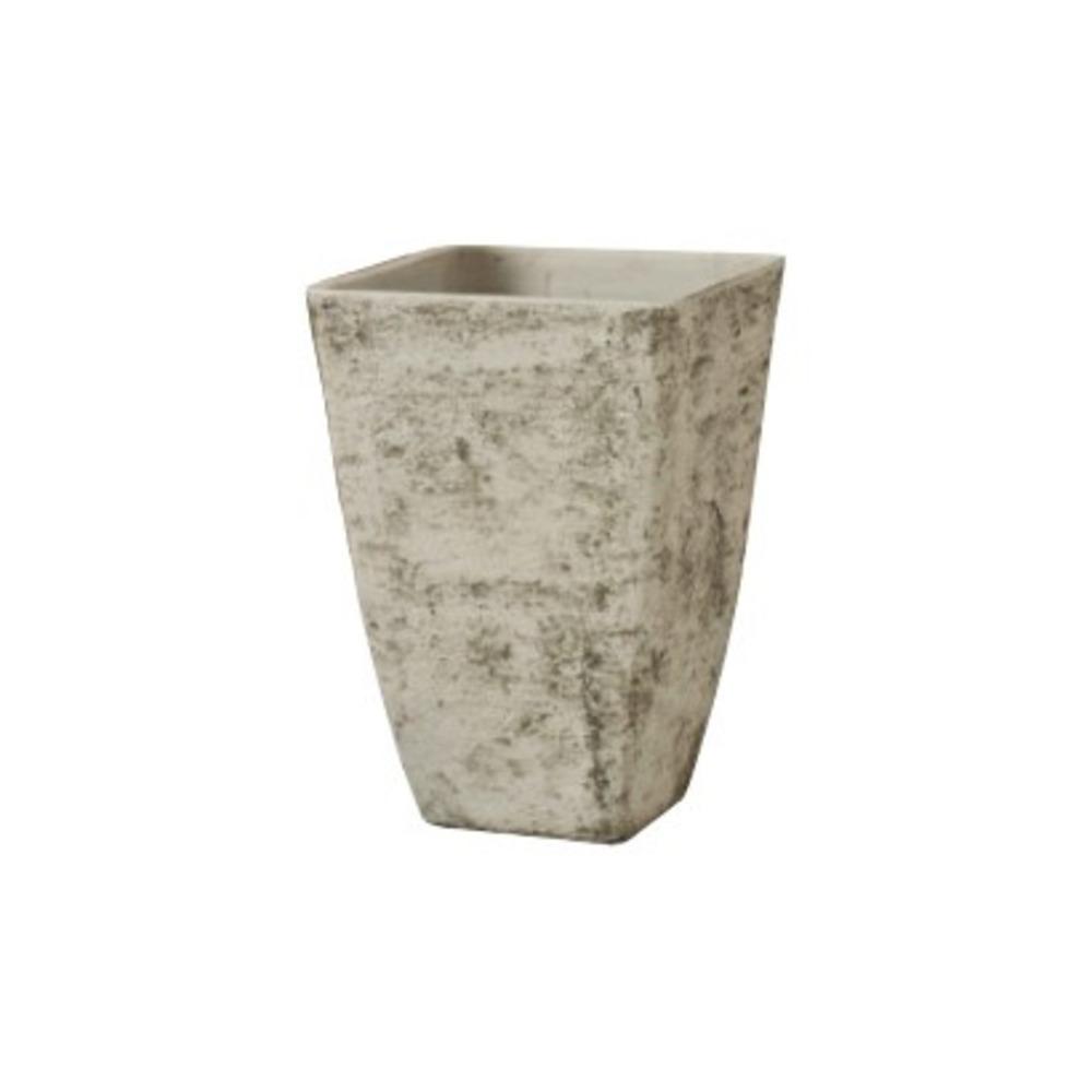 Vaso Quadro Alto Cemento Country White 34x48 cm