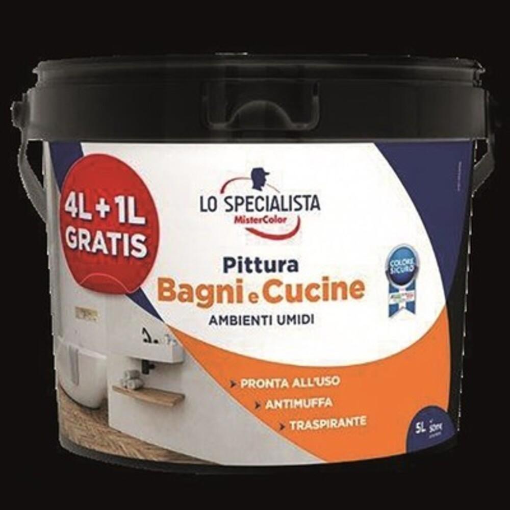 MCS Pittura Bagni e Cucine 4+1 Lt