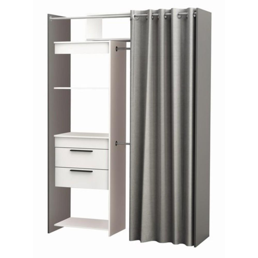 Scaffali Per Cabina Armadio cabina armadio new york a5 bianco/grigio
