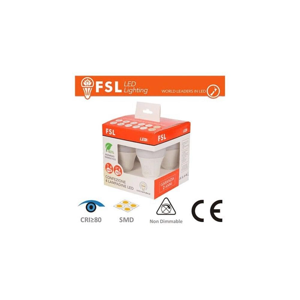 Pack 4 Lampadine Led E27 9W e 12W