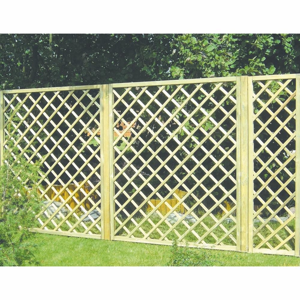 Grigliato legno 100x180 cm shop online su brico io for Recinzioni in legno brico