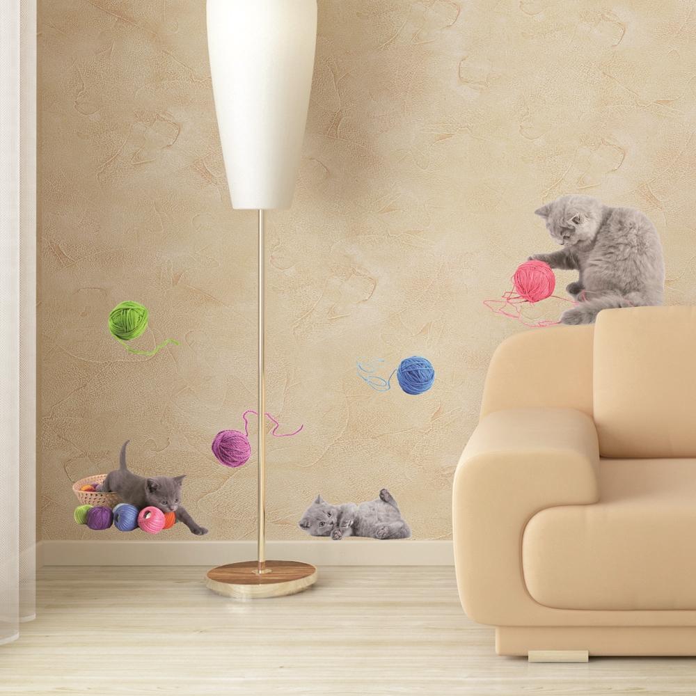 Home decor adesivi wall decor cats lovely pets shop for Brico adesivi pareti