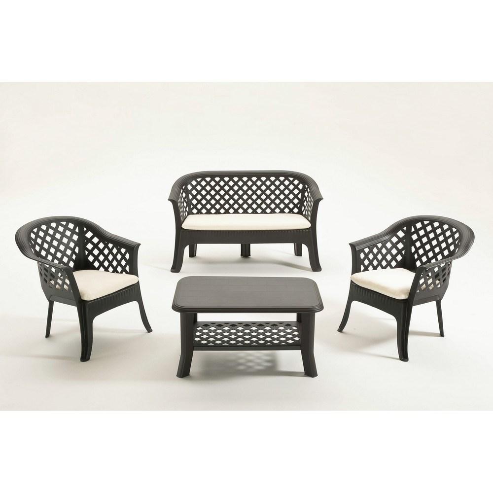Set Veranda 2 poltrone + divano+ 1 Tavolino