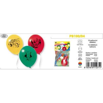 Image of 10 palloncini con animali