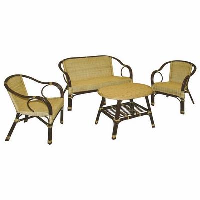 Image of Set Montmartre 2 poltrone+1 divano+1 tavolino