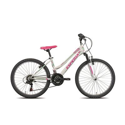 """""Bicicletta 8400D Smile Bianco/Verde"""""