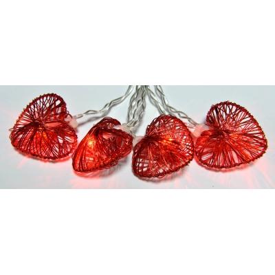 Image of 10 cuori rossi in metallo